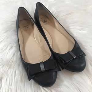 Vince Camuto Black Bow Barstol Ballet Flats, 8M